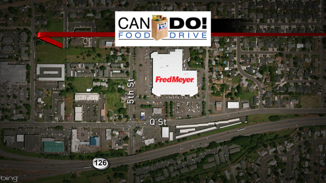 Can Do! Food Drive TODAY at Fred Meyer on Q Street in