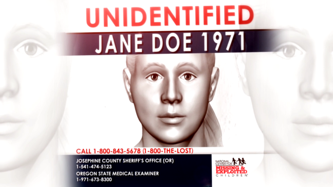 Jane Annie Doe' found in Oregon woods in 1971 finally