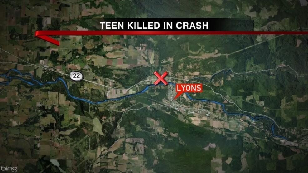Lyons Oregon Map.Woman 18 Dies In Car Crash Near Lyons Kval