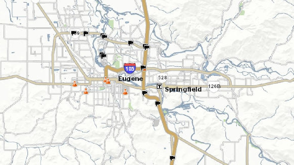 Interstate 5 Through Eugene Springfield From Albany To Cottage Grove