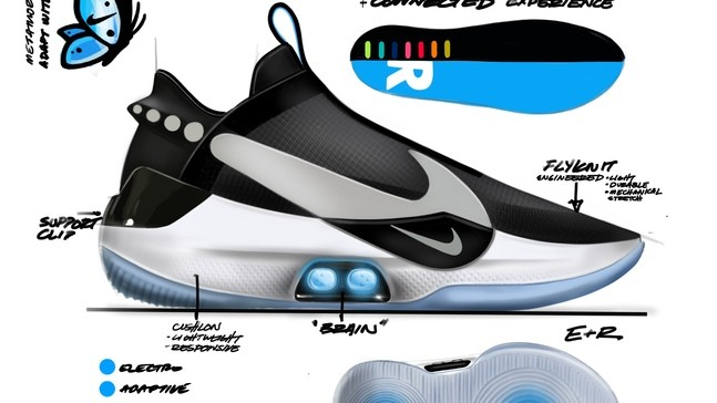 07f84b5d3d Oregon-based Nike releases self-lacing sneakers controlled by ...