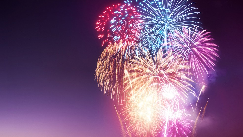 Where can you watch professional firework displays this Fourth of