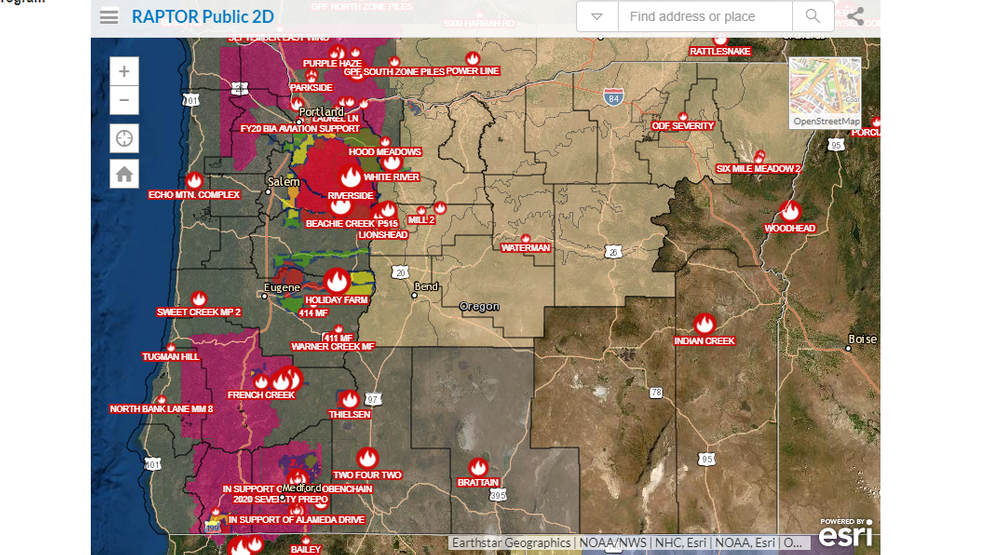 Interactive Map Shows Current Oregon Wildfires And Evacuation Zones Kval