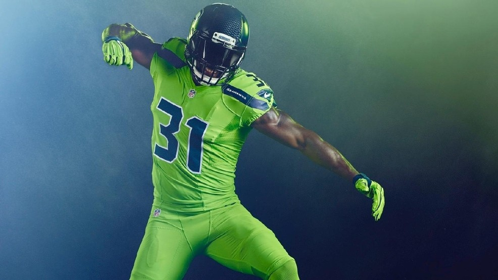 Check out the  Action Green  uniforms the Seahawks will wear  c6167b475