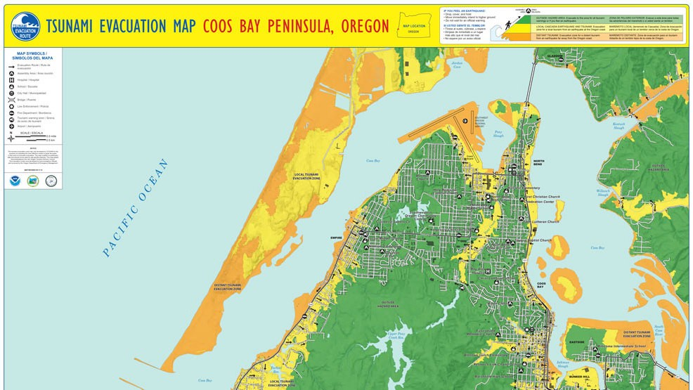 Tsunami Evacuation Maps For Lane Douglas Coos And Curry Counties