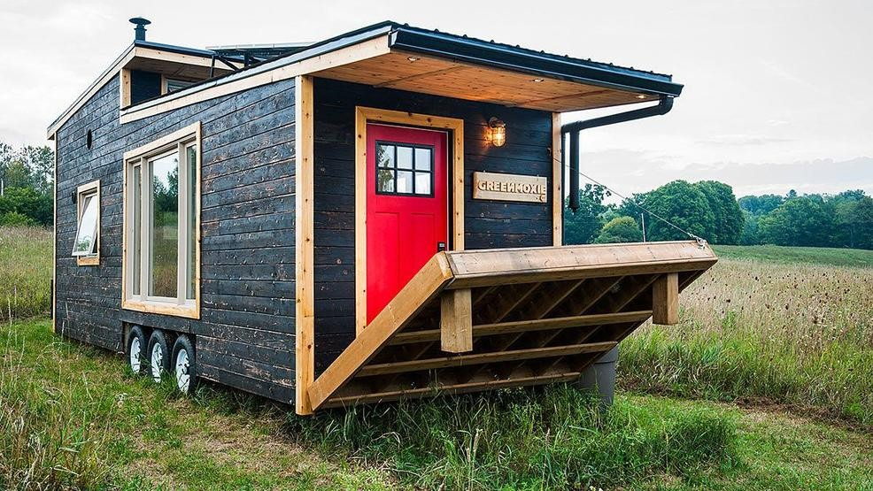 This Is A 340 Square Foot Sustainably Built Dwelling That Offers 100 Off The Grid Living And Even An Electric Drawbridge Style Deck For Enjoying