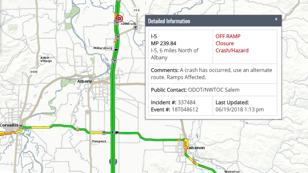 Fatal crash closes I-5 exit north of Albany | KVAL