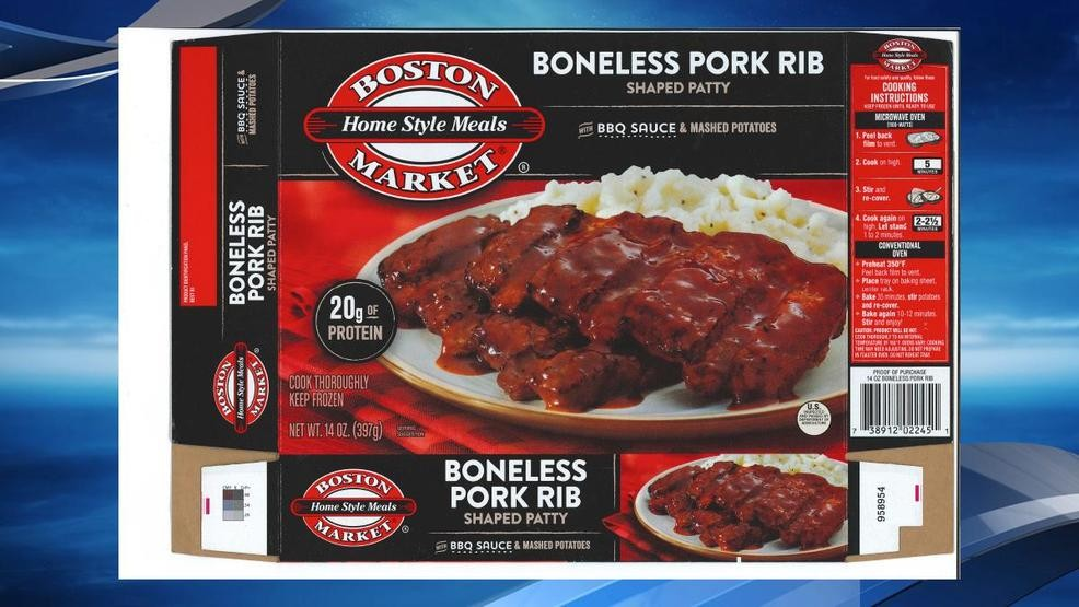 Boston Market frozen pork meals recalled over possible glass