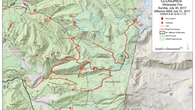Fire Map Of Oregon 2017.Whitewater And Rebel Fires Still Burning Out Of Control In Oregon